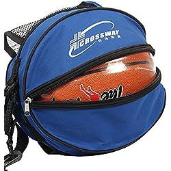 Bolso para pelota, para entrenamientos de deportes al aire libre, fútbol, rugby, voleibol, baloncesto, color azul, tamaño talla única