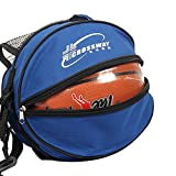 Outdoor Sport Training Schulter Fußball Fußball Volleyball Basketball Tasche, blau