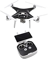 Voberry Unisex-Child PVC Skin Wrap Sticker Decal for DJI Phantom 4 Pro Drone+Controller One Size Black