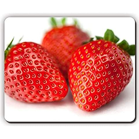 high quality mouse pad,strawberries berries white background,Game Office MousePad size:260x210x3mm(10.2x