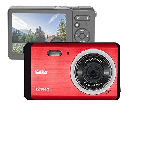 GDC80X2 Kompakte Digitalkamera mit 8x Digitalzoom / 12 MP / HD Kompaktkamera / 3″ TFT LCD Bildschirm (Rot)