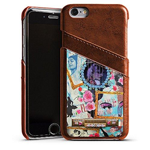 Apple iPhone 4 Housse Étui Silicone Coque Protection Guitare Art Flamenco Étui en cuir marron