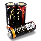3X Trustfire 26650 Akku 5000mAh - PCB geschützt - 5000mAh, Menge: 3 Stück