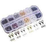 2138/5000 Ucatcher couleurs assorties pinces à griffes de homard et couleurs mélangées Open Jump Rings avec étui pour la fabrication de bijoux