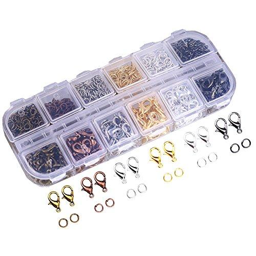 2138/5000 Ucatcher Assorted Farben Karabinerverschlüsse und Mischfarbe Offene Binderinge mit Fall für Schmuck Machen (Geldbörse Großhandel)