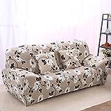 Dehnbarer, rutschsicherer und elastischer Sofa-Schonbezug aus Polyester von Fastar. Für Einsitzer, Zweisitzer und Dreisitzer., Type:C, 2-Sitzer