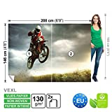 FORWALL Vlies Fototapete Tapete Vliestapete Dekoshop Motocross Jungen Teenager ADW1249VEXL (208cm x 146cm) Photo Wallpaper Mural