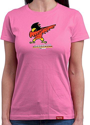 HARIZ  Damen T-Shirt Rundhals Pixbros Dabadler Deutschland Funshirt Trikot 2018 Fussball Fahne EM WM Männer Geschenk Gratis Bang Sticks...