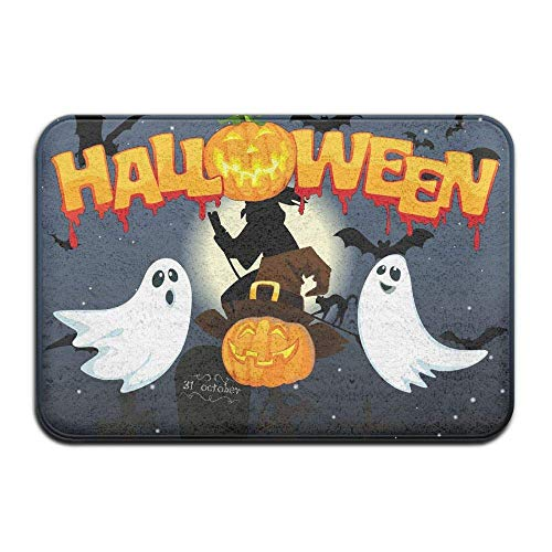 Cupsbags Full Moon Witch Halloween Soft Comfort Flannel Indoor Mats Rugs,Non-Slip Multi-Use Doormat Super Absorbent Washroom Mat Toilet,Kitchen Floor Mats Washable Home Decor Carpets
