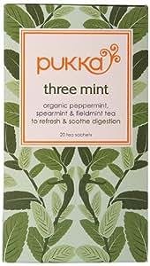 Pukka Organic Triple Mint 20 Teabags (Pack of 4, Total 80 Teabags)
