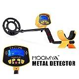 HOOMYA™ Hochempfindlicher Metalldetektor - 8.2 Zoll Wasserdichter Suchkopf, LCD Anzeige Objekten Tiefenposition , Erkennt alle Metalle