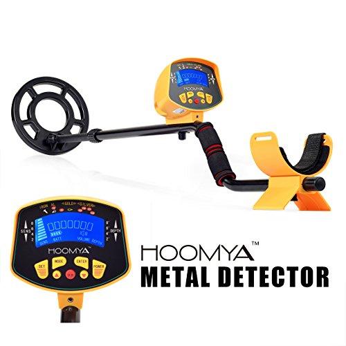 HOOMYA Détecteur de métaux - 8.2 pouces bobine de recherche hydrorésistant, LED monte d'objet et profondeur,détecter tous les métaux