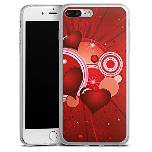 Apple iPhone 8 Slim Case Silikon Hülle Schutzhülle Herz Liebe Kreis Silikon Slim Case transparent