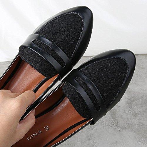 &qq Chaussures plates, chaussures britanniques, casual chaussures à talons bas 36