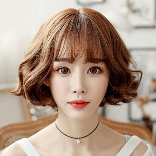 Longless Perücken kurze Haare, lebensechte natürliche Liu Haibo wave Head Mode in der kurzen lockiges Haar Birne blush setzt