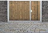 Einfahrtstor Sas Tor Holztor Gartentor Hoftor Verzinkt mit Pfosten & Holzfüllung Senkrecht 2-flügelig 350cm x 160cm