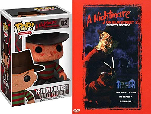 Freddy Kreuger #02 Action Figure A Nightmare on Elm Street 2: Freddy's Revenge Toy and Movie Bundle DVD Horror Collection