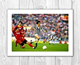 Michel Platini 2 SP - Signed Autograph Reproduction Photo A4 Print (Print Only)