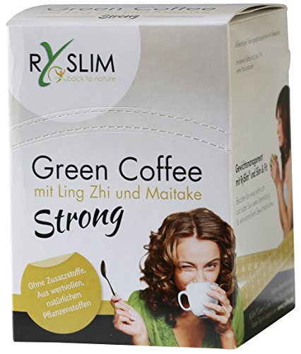 RySlim strong Green Coffee Grüner Kaffee mit Ling-Zhi (Reishi) und Maitake