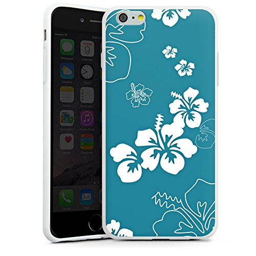 Apple iPhone X Silikon Hülle Case Schutzhülle Blumen Sommer blumenmuster Silikon Case weiß