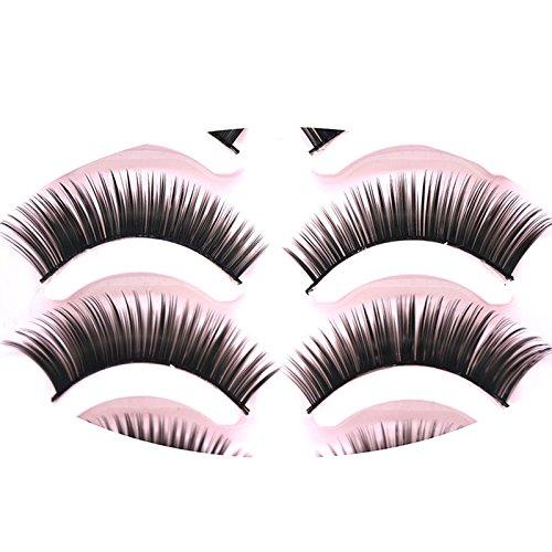 Vi.yo 5 Paires / Set 3D Faux Cils Messy Croix Épais Naturel Faux Cils d'Oeil Conseils de Maquillage Professionnel Bigeye Long Faux Cils d'Oeil