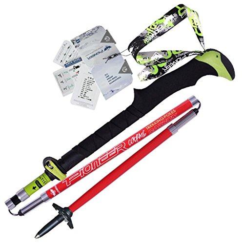 Baisde Wandern Stöcke Outdoor Carbon Fiber Ultralight Falten kurze Stöcke Alpenstock Pole Klettern Walking Trekking Pole
