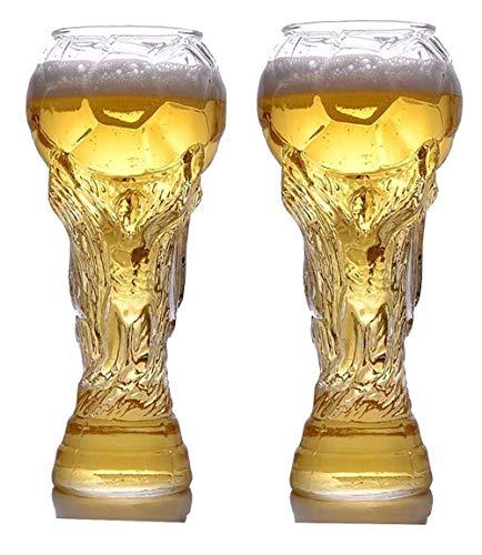 Weltmeisterschaft 2018 Bierkrug, Live It Up, Champion Trophy Bierflasche Tasse, Fußball-Fan-Party-Geschenk-Box, ideal als Bier Geschenk, Fans Souvenir 450ML (2 Stück)