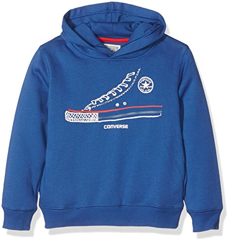 Converse Simplistic Sneaker, Felpa Bambino, Blue (Roadtrip Blue), 5 Anni (Taglia Produttore:4-5 Anni)