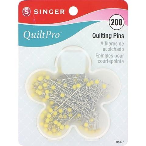 Singer Various QuiltPro Quilting Pins In Flower Case-Size