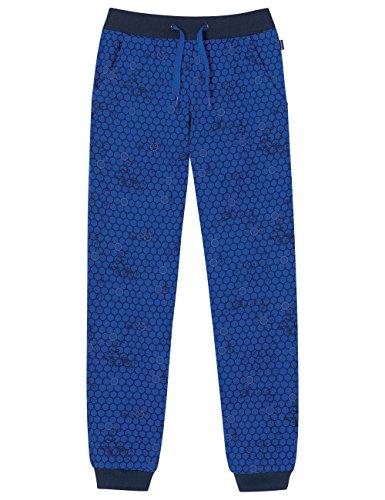 Schiesser Jungen Schlafanzughose Mix&Relax Jerseypants, Blau (Royal 819), 176 (Jersey Blau Puck)