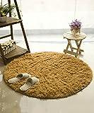 ZHANWEI Bereich Teppiche Einfacher Farben-Teppich Wasser-Absorption rutschfeste runde Badezimmer-Wohnzimmer-Sofa-Teppich-Hall-Schlafzimmer-Teppich ( Farbe : D , größe : 140*140CM )