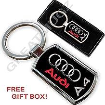 Audi A4coche Llavero Clave Cadena Anillo Llavero de metal, nuevo