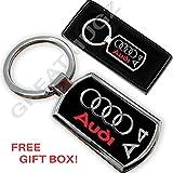Audi A4Auto Schlüsselanhänger Ring Schlüsselanhänger Metall Chrom New