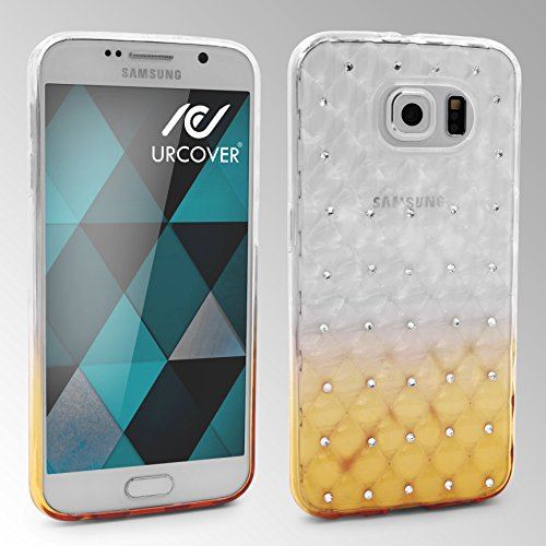 URCOVER Coque Back-case Housse Glittery Diamant pour Apple iPhone 6 Plus / 6s Plus | Étui avec Strass Scintillantes et Pailletté en Silicone TPU Souple in Transparente Jaune