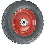 Piatto a prova di ricambio ruota–25,4cm–300lb. Capacità di carico–per uso su carriole, vagoni, carrelli, e molti altri prodotti, nero, 4383455