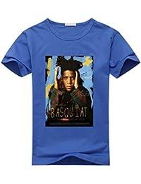 Sixtion Feqi Men's Jean Michel Basquiat Short Sleeve Cotton Diy T-Shirt For Men