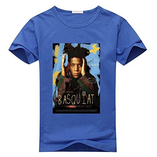 Sixtion Feqi Men's Jean Michel Basquiat Short Sleeve Cotton Diy T-Shirt For Men X-Large
