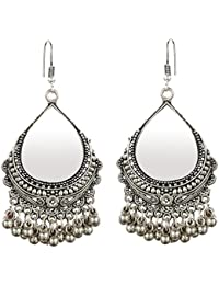 Stunning/Adorable Classy & Unique Designer Oxidized Silver Ghungroo Earring For Women And Girls By The Indian...