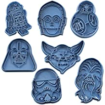 Cuticuter Star Wars Pack Cortador de Galletas, Azul, 16x14x1.5 cm 7 Unidades