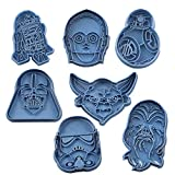 Cuticuter Star Wars Pack Ausstechform, Blau, 16x 14x 1.5cm, 7Stück
