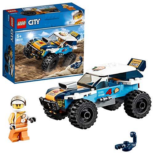 LEGO City Great Vehicles - Coche de Rally del Desierto, todoterreno divertido de juguete de construcción para aventuras en el desierto con grande (60218)