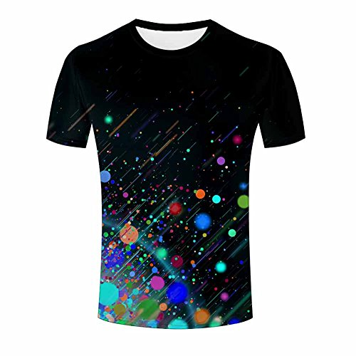 Men 3D T-Shirt Colorful Circles Printed Jing Unisex Funny Patterned