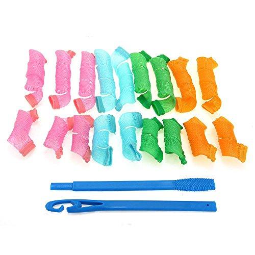 18 Haar-Lockenwickler lange Twist Spiral Circle Curlformers MagicRollers Styling Tool