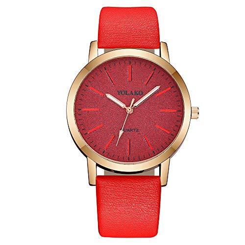 Kinlene Damen Beiläufige Quarz-Lederband-Uhr-analoge Armbanduhr der Frauen Uhren