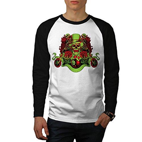 Spiel Legende Langen Ärmeln (Clown Rose Tod Schädel Tod Spiel Herren S Baseball lange Ärmel T-Shirt | Wellcoda)