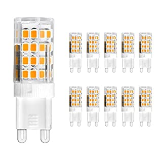 Ascher 10 Packs G9 Led Bulbs 5W 51 SMD 2835 Led Energy Saving Bulbs With Super Bright Warm White led lamps[Equivalent to 30W Halogen Bulb,AC 220-240V,360° Beam Angle]