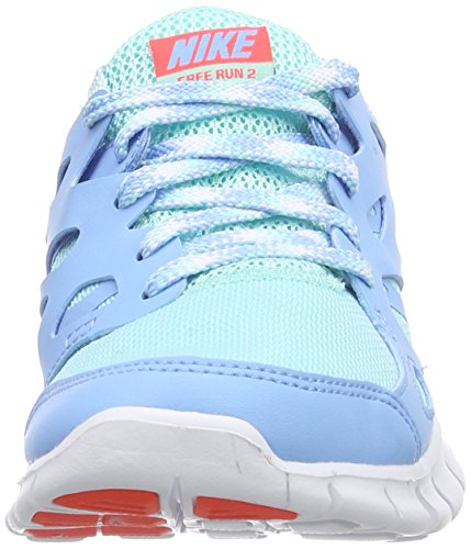 Nike Free Run 2, Chaussures de course mixte enfant Bleu - Blau (Artsn Tl/Brght Crmsn-Lksd-Whit 301)