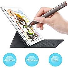 VIFLYKOO Active Stylus Stylet Pluma Universal Lápiz Capacitivo Activo de Punta Fina Aguja para Pantalla Táctil Capacitiva para Tablet iPad Pad iPhone 7 Huawei P10 Galaxy S7 Edge S8 Plus (Gris Oscuro)