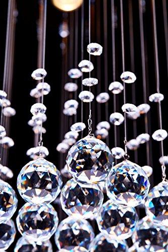 Saint Mossi ® Modern Unterputzmontage Regen Fallen Kronleuchter Kristall Leuchter Viereck entworfen Deckenleuchte 4*GU10 Base Birne Erforderlich - 4