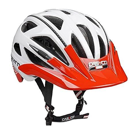 Fahrradhelm Radhelm Casco Activ 2, weiß-rot glänzend - Biese schwarz, Gr. M (56-58 cm)